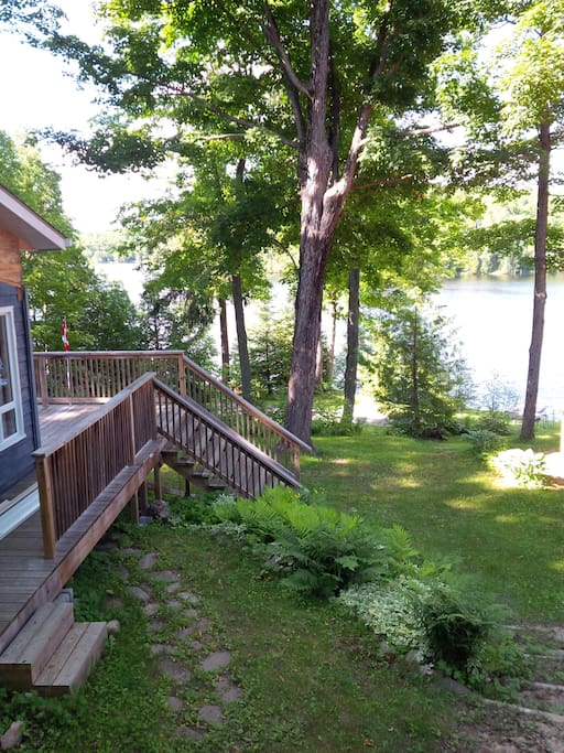 Side deck and lake view.