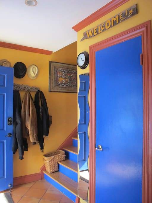 It's colorful and welcoming interiors will greet you