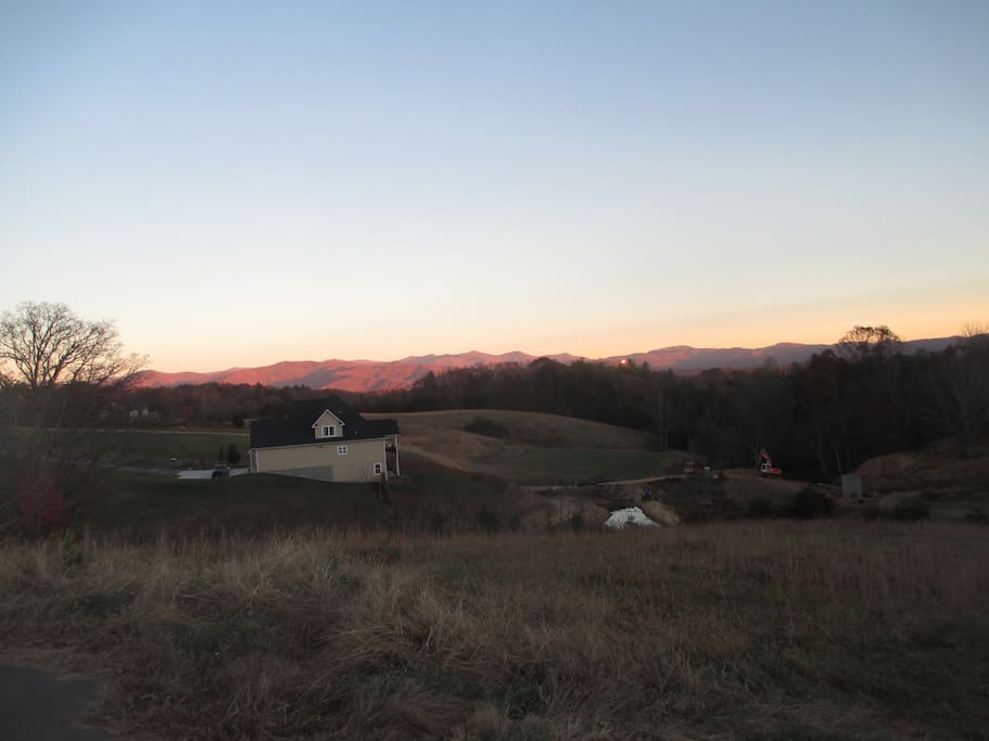 Pastoral rear views looking east. Nice view from Master BR (sunrise)