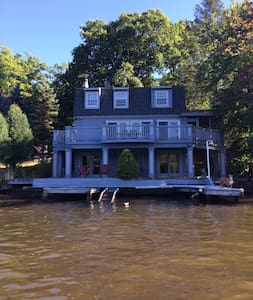 Newly renovated beautiful lakefront home conveniently located near the Pocono's best attractions.  Four bedrooms, 2.5 baths, living room, kitchen, finished basement with large porch and deck space.