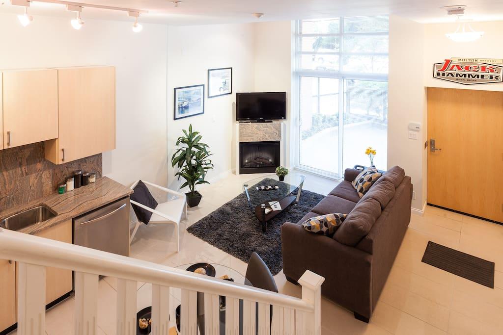 Comfortable sitting area on main floor