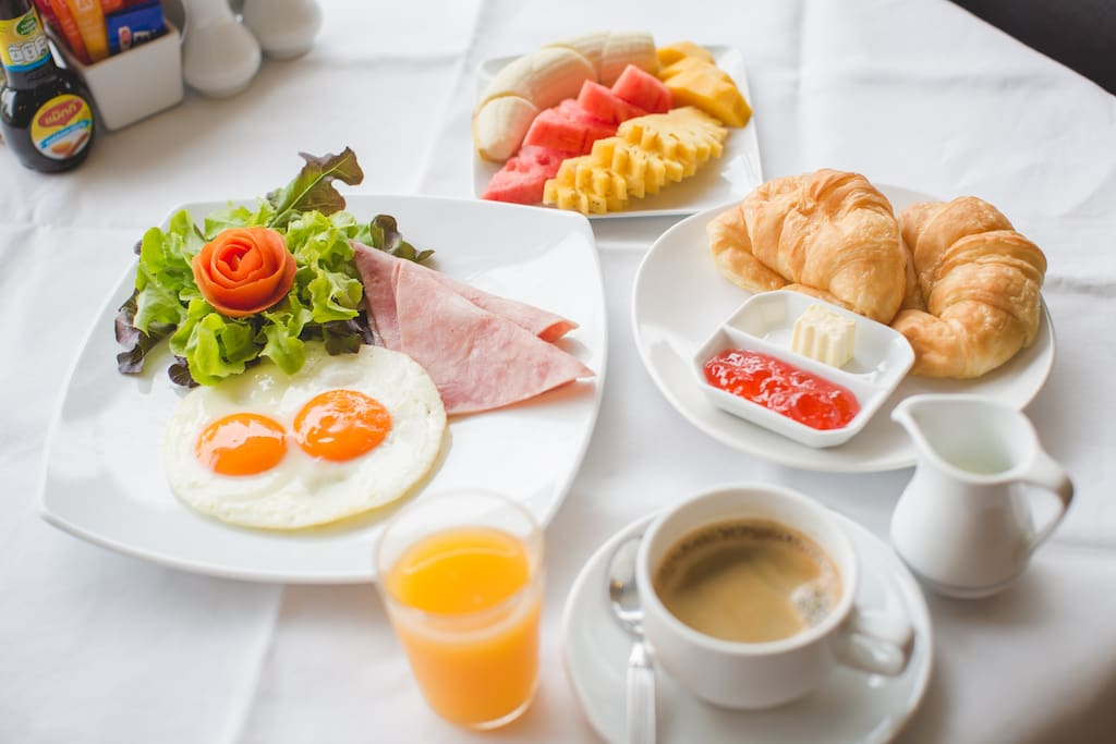 breakfast available: 200 baht per person