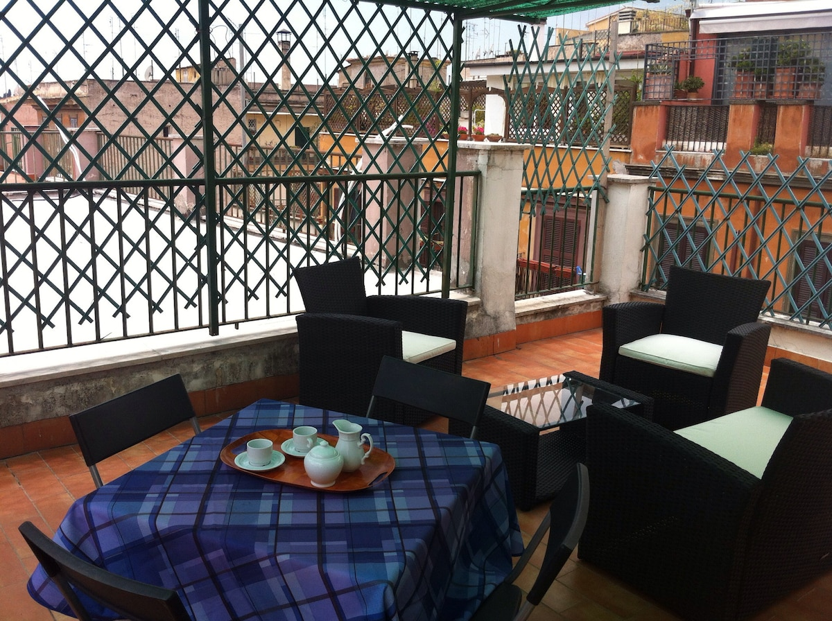 Large penthouse near the Colosseum - Apartments for Rent in Rome ...