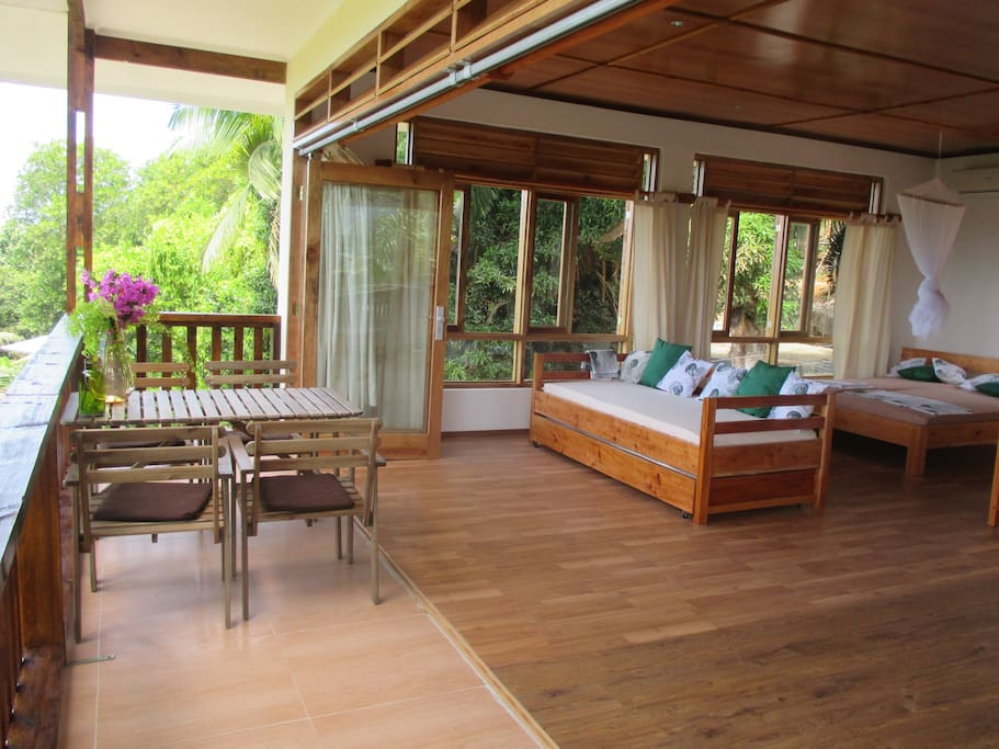 Spacious private balcony