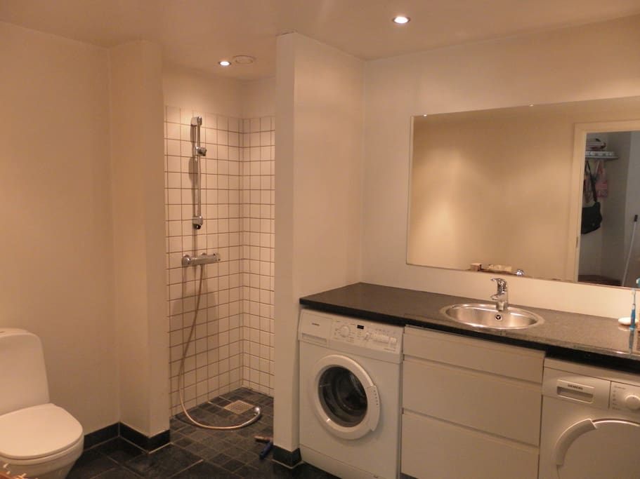 large and fully equipped bathroom