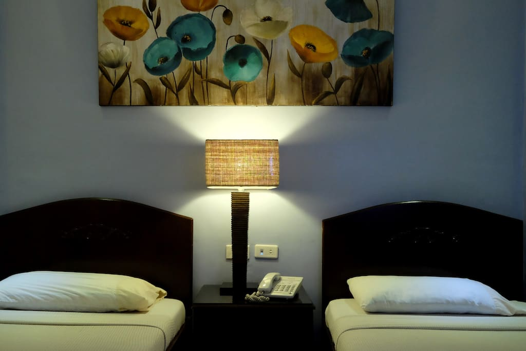Our Rooms have different color hues for cooler ambiance.
