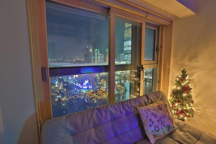 乐天世界蚕室高级复式公寓3 免费移动wifi Lotte World&Lake View Loft