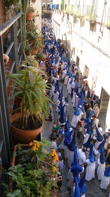 Semana Santa desde el balcón