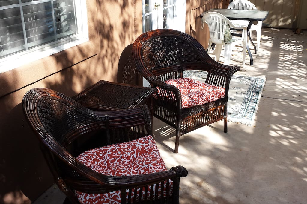 Full view of private patio of the casita...nice and quiet!!