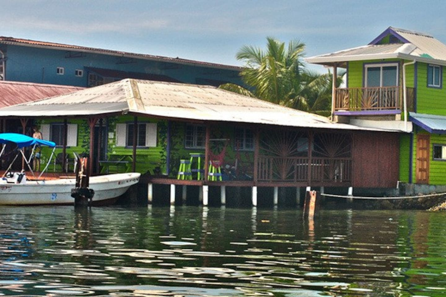 Over the water Hostel, cabana and surf school.