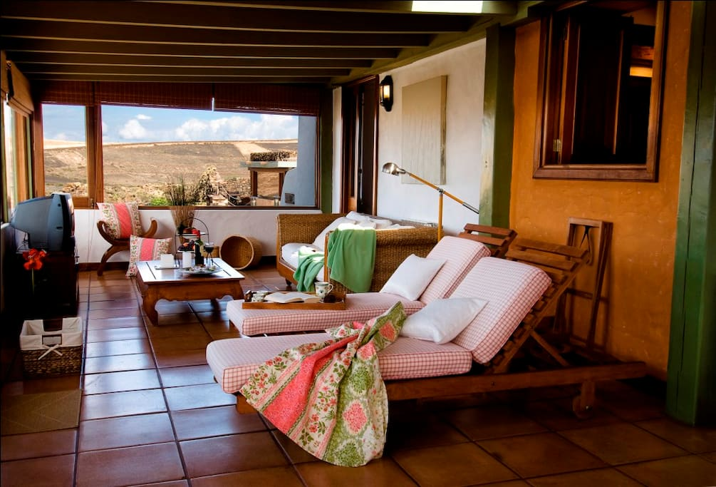 Terrace with a view of the Famara Cliffs