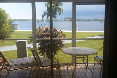 Aventura waterview with patio