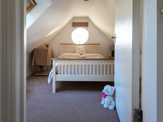 Cosy but well equipped. Comfortable standard double bed.