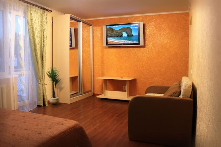 1-комнатная просторная квартира с w - Chernivtsi - Apartment