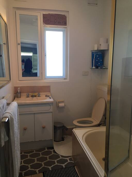Bathroom. All amentities are older but functional =)
