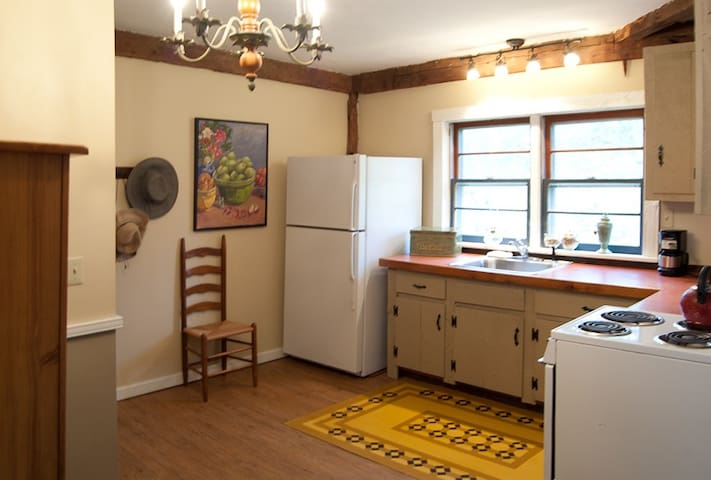Full kitchen includes microwave.