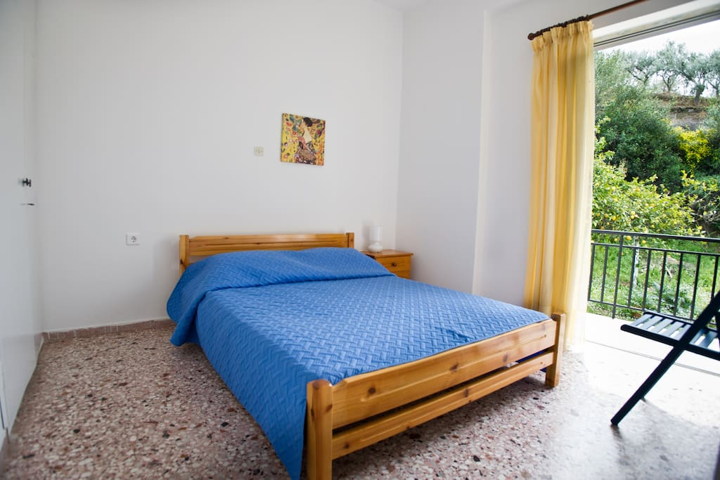 The main bedroom with a double bed