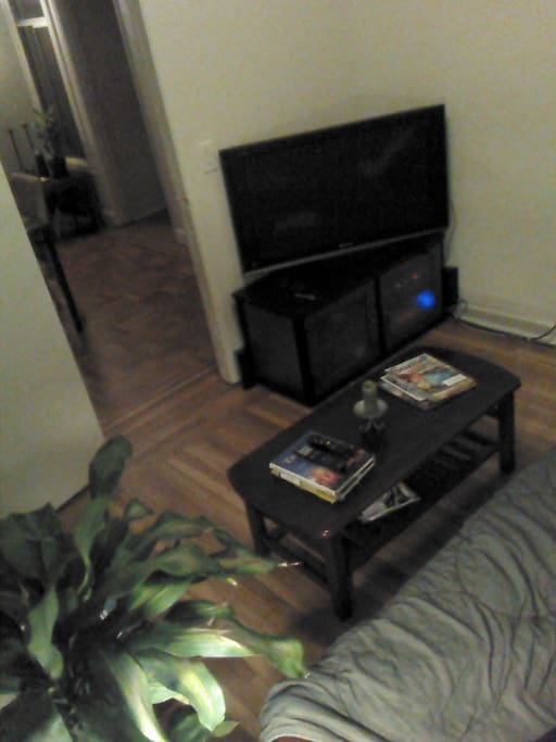 Cable/TV and Playstation 3 in a separated room which can double as the third bedroom