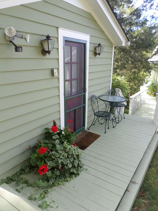 Front porch of cottage.