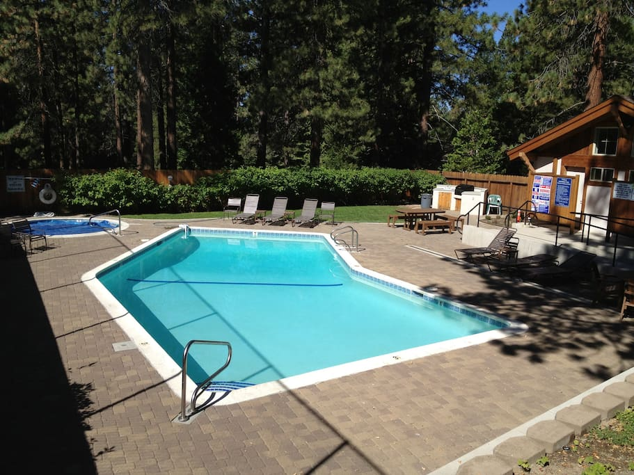 Community pool (heated), hot tub, and BBQ area - usually open Memorial Day weekend thru Labor Day weekend.