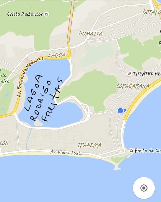 Perto da Lagoa Rodrigo de Freitas