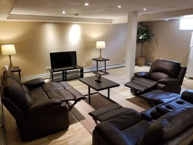 Cozy, quite  full suite basement near prairie mall