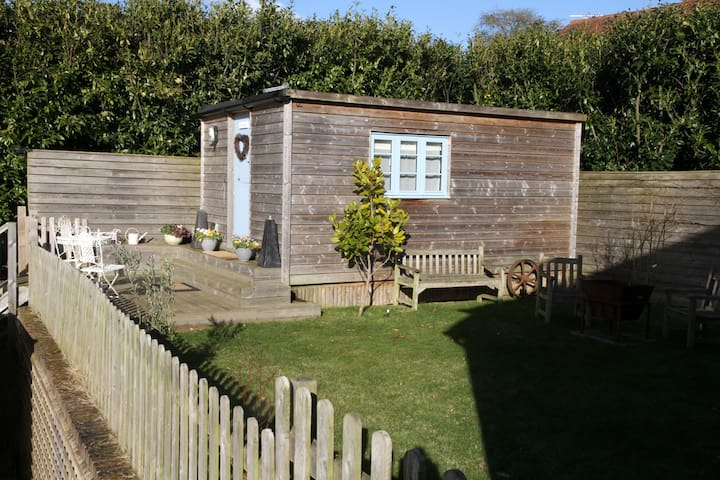 The Cabin and South West  Facing Terrace and Garden