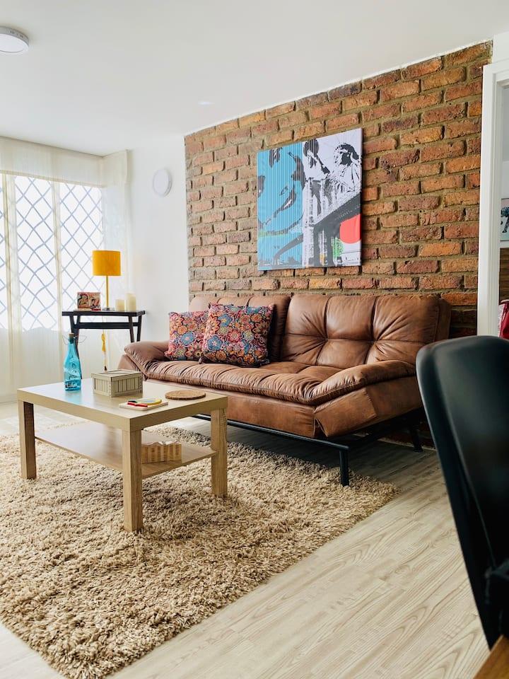 Hermoso apartamento en centro turistico de Bogotá