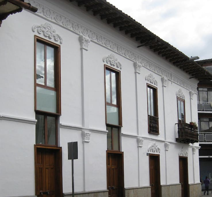 Colonial building in historic center of Cuenca
