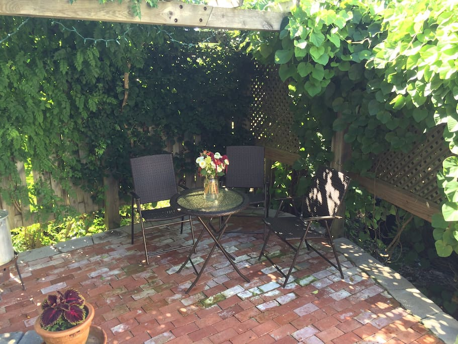 Garden patio - a great spot for morning coffee or relaxing after a busy day