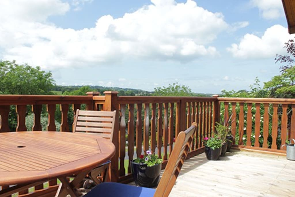 Relax and unwind on the veranda and take in the views