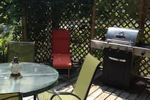 The sunny deck with BBQ for charbroiled goodness.