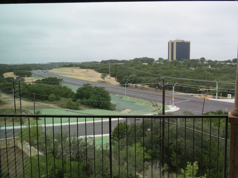 Picture of the rental's Hill Country view from the porch.