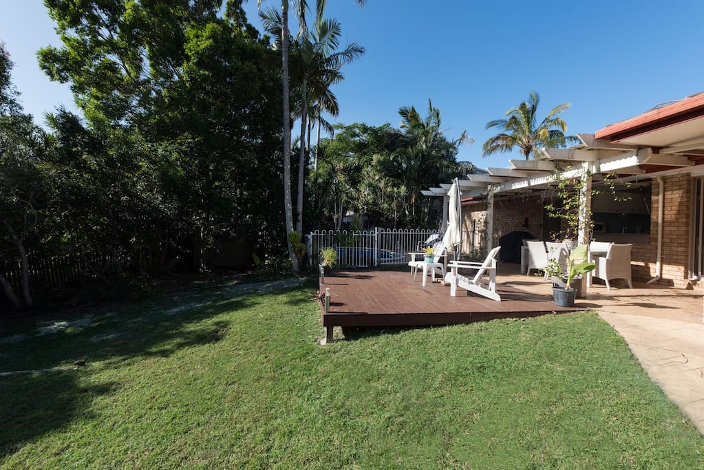 Deck beside Pool Area - Backing onto Noosa National Park