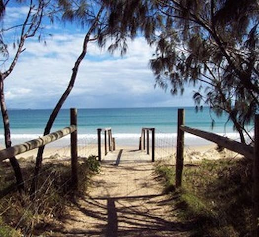 On the Beach, Close to Sunshine Coast Airport.
