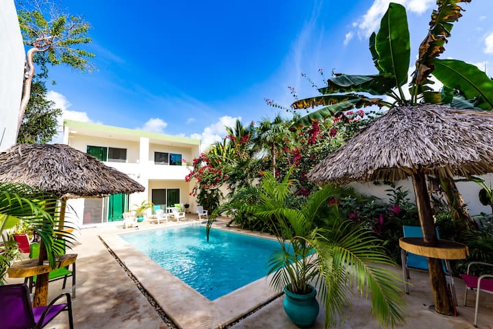 Mexican Villa Sleeps 14, Fantastic Pool, 5 BR..30 - Tulum - Villa