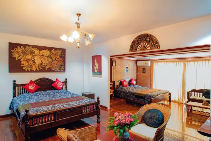 『The Nest』Deluxe 2 Bed Rooms Connecting #Kantaraj# - chiangmai thailand - Flat