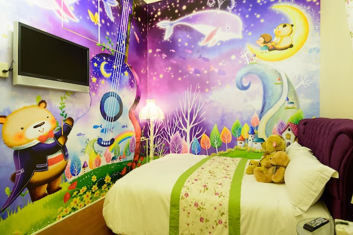 台灣羅東夜市-2人小熊星空主題套房