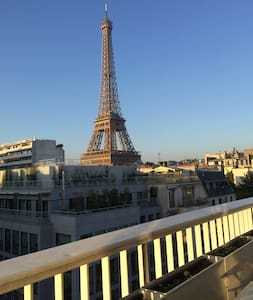 Top view apartment, 5 mins from the Eiffel Tower