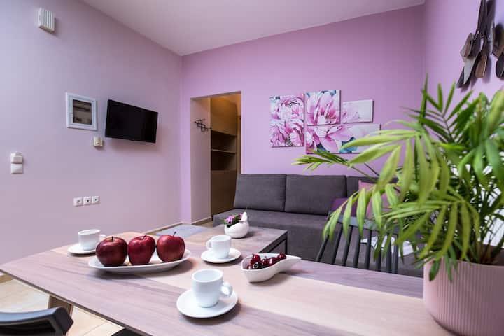 Levanda - garden view ~ Anastellar apartments