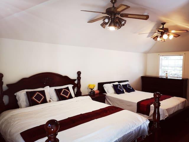 天普市华人区双床房适合一个家庭居住中文房东