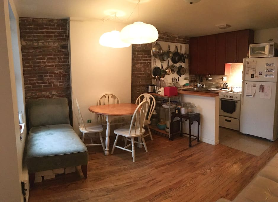 Common area and fully equipped kitchen