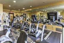 Break a sweat in the fitness center.