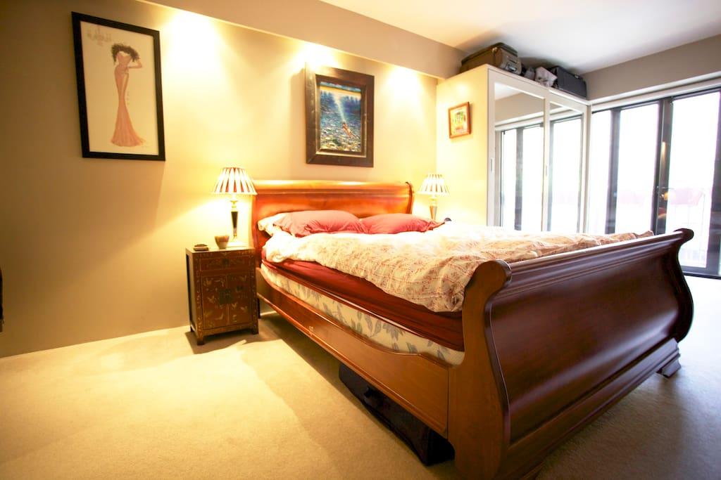 The bedroom....