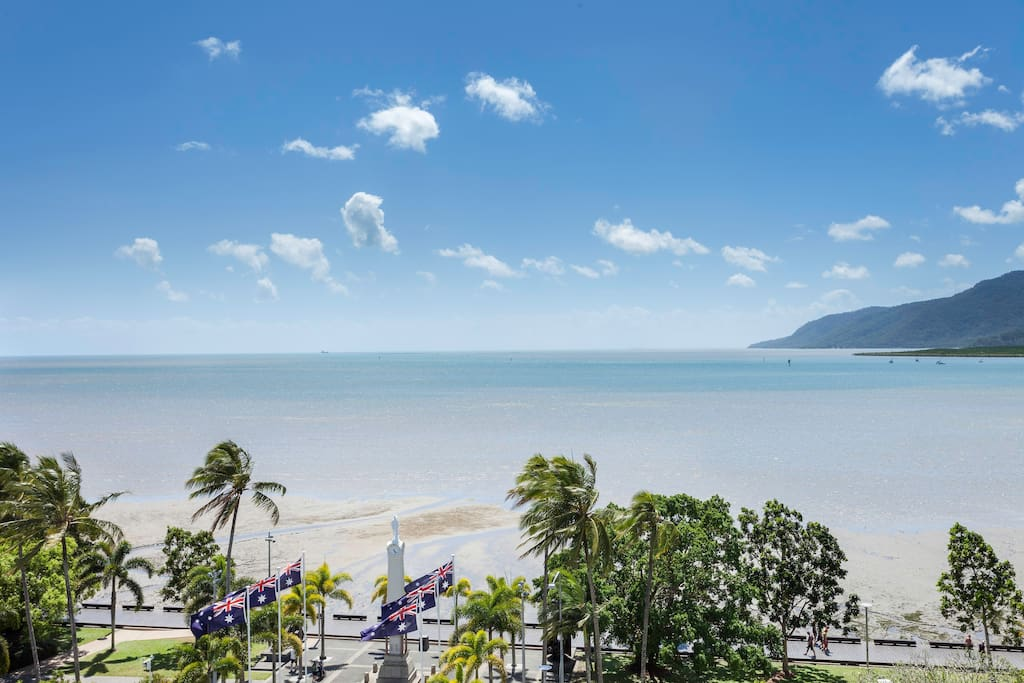 View in front of apartment over Cairns Esplanade
