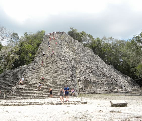 Coba archaeologycal zone    1.45hrs from my apartment