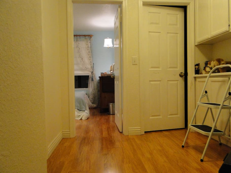 Hall to AirBnB room