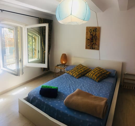Nice room with prívate bath in Exterior house