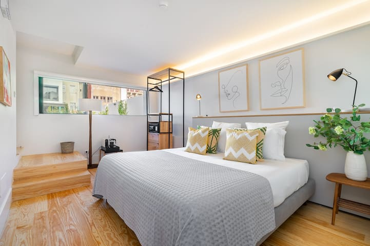 Villa Almada Second Bedroom - Superking Double bed, Air Conditioning, Amazon Music unlimited, Black out blinds.