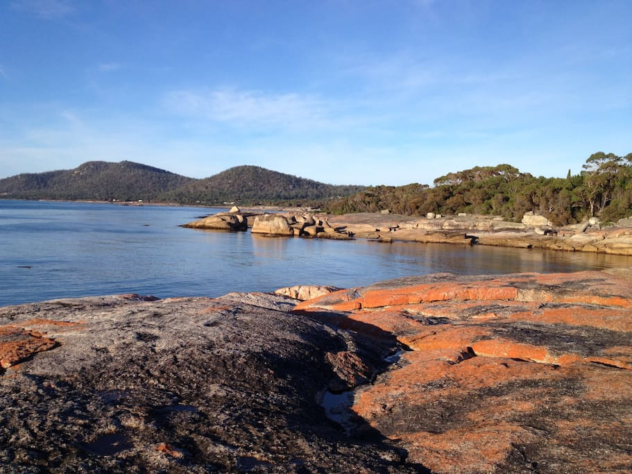 One of the many walks around Bicheno foreshore. Early mornings are best